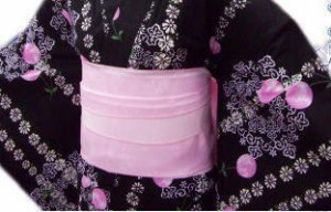 浴衣ゆかたに♪簡単ふわっふわ兵児帯薄ピンクしゃぼん玉
