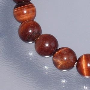 10mm 18cm 赤トラ目石(レッドタイガーアイ)ブレスレット  (メンズM、レディースLサイズ)
