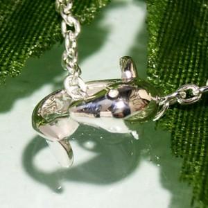 小さなイルカのリングシルバーネックレス