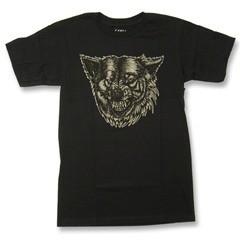 【即日発送♪】 バンズ×デニスマクネット プリントTシャツ ブラック (CANIS ILUPUS Black-Tee VANS×McNETT)