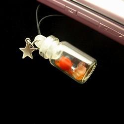 インカラッキーストーン携帯ストラップ(天然石/アメジスト)