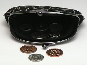 【和柄がま口財布】和柄がま口財布大。大きいサイズが便利です。(色K1)