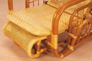 【送料無料!ポイント10%】折りたたみ可能!耐久性に優れた「縄代編み」籐ロータイプリクライナー