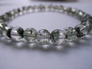 金運/癒し/お守り ガーデン水晶ブレス6mm