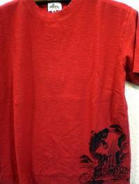 カラクリ 半袖Tシャツ 鯉刺繍 KARAKURI