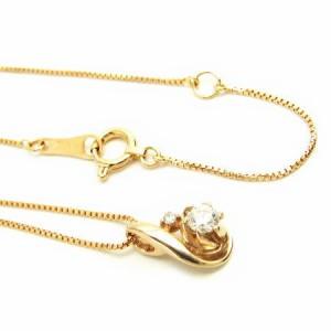 K18PG*ピンクゴールド天然ダイヤモンド0.11ctエレガントデザインダイヤ ネックレス レディース 送料無料 クリスマス ギフト