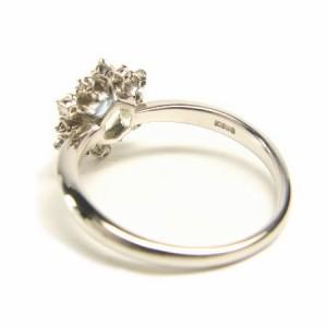 K18WG*ホワイトゴールド天然ダイヤモンド0.11ctアメジストスノーリング 送料無料