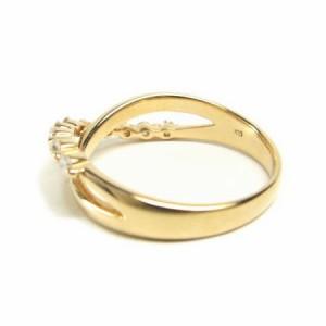 K18PG*ピンクゴールド天然ダイヤモンド0.2ctインフィニティーリング 送料無料 クリスマス ギフト
