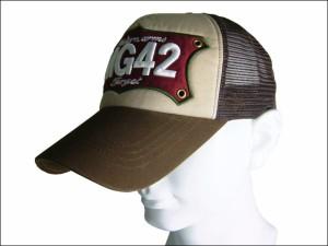 超ビッグサイズ65cmメッシュキャップ(MG42)ブラウン 帽子 大きいサイズ メンズ