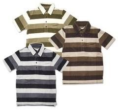 [リアルシング] ベロアボーダーポロシャツ