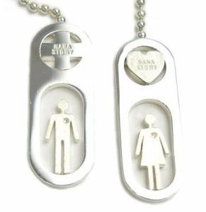 【NaNa Story】 LOVE&PEACE アイラブSILVERヒューマンデザインネックレス・・・・彼氏・彼女とペアでお勧め♪【送料無料】