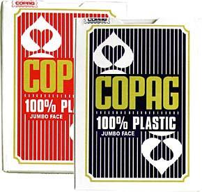COPAGコパッグ ジャンボフェイス ポーカーサイズトランプ(赤)