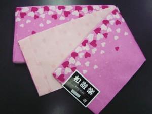 浴衣に♪小粋な半巾帯半幅帯ピンク地ハート