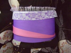浴衣に♪レース付きメッシュ前板薄紫&白