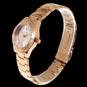Forever フォーエバー レディース腕時計 ピンクゴールド 天然ダイヤ サンレイシルバー FL-602-1