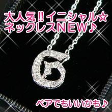【n434】pt加工イニシャルネックレス★g
