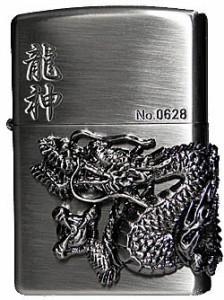 ZIPPO/龍神メタルジッポー アンティーク ニッケル