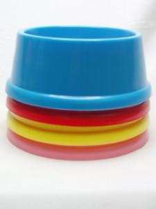ポリプラ食器 (カラー:青・赤・黄・ピンク)