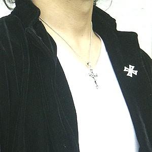 メンズ ネックレス キリストクロス ロザリオネックレス