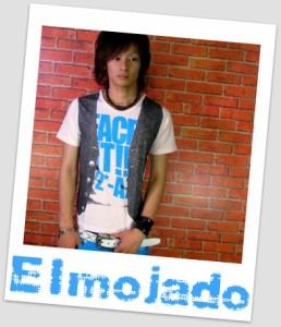 メール便なら送料無料!Elmojado】だましフォトプリ&蛍光ロゴTシャツ【sph-5180】