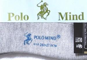 POLO靴下20足■グレイ 【ポロ/ソックス/下着/衣類/服/チェック/フリーサイズ/フォーマル/カジュアル】