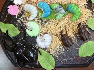 かぶと虫ケーキ♪ 【冷凍発送】 洋菓子 手作りケーキ誕生日ケーキ バースデーケーキ 子供 男の子 サプライズ おもしろ プレゼント