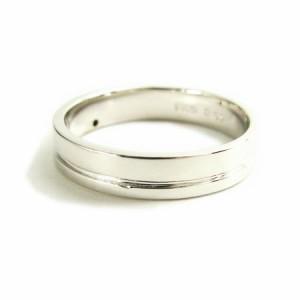 刻印対象商品 天然ダイヤモンド1ピースラインシルバーリング(プラチナコーティング) 送料無料