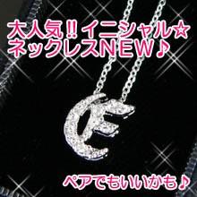 【n432】pt加工イニシャルネックレス★e