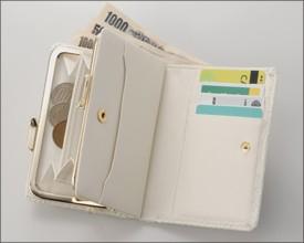 【送料無料】ホワイトスネークがま口財布/白蛇ウォレット/コインケース付き/白蛇ウォレット/ヘビ/メンズ/レディース