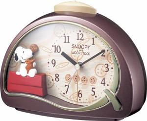 リズム時計工業 目覚まし時計 スヌーピーR506 4SE506MJ09 エンジメタリック 目覚し めざまし キャラクタークロック 子供
