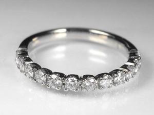 高品質☆0.5ctダイヤモンドK18ホワイトゴールドエタニティリング