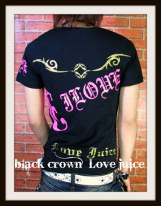 ☆SALE☆【black crown】psychedelicUネックTシャツ!