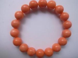 コーラル(珊瑚)10mmブレスレット