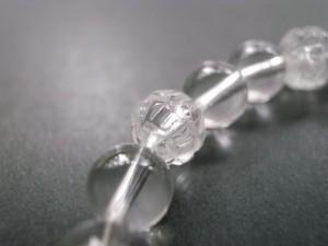 4月誕生石 蓮の花水晶ブレス8mm