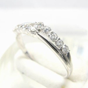 K18WG*ホワイトゴールド天然ダイヤモンド0.3ct煌めきダイヤデザインリング 送料無料 クリスマス ギフト