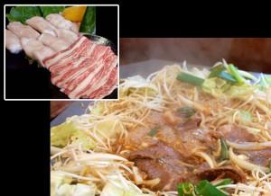 黒毛和牛カルビ・丸腸「辛口」たき鍋セット800g