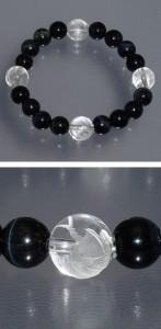 ◆風水・四神獣手彫り水晶10mm玉◆ ブルータイガーアイブレスレット (レディースSサイズ)