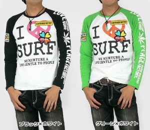 SURFBOARD FACTORY (I LOVE SURF)ラグランロンT