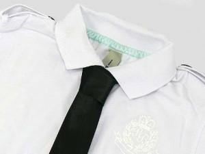BASQUIAT 肩章&ネクタイ付き半袖ポロシャツ