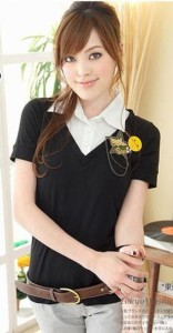 大きいサイズ☆カッシャツINカットソー☆LL3L4L☆6038【T】【980】【ST】