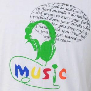 [メール便]deuse限定 メンズコラボTシャツ 「Music」 ANDE-003 vani0004