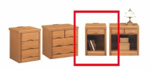 【送料無料】36ベッドサイドテーブル!ナイトテーブル オープンタイプ コンセント付き 鍵付き かぎ カギ ブラウン ライトブラウン★ik05c