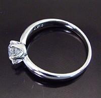 【鑑定書付き】Pt 0.5ct 最高級Dカラー ダイヤモンド リング〜ご注文日より4週間前後の発送〜