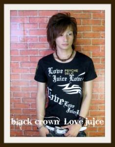 【メール便対応商品】【在庫一掃セール】【black crown】psychelic&gold☆UネックTシャツ【70721】