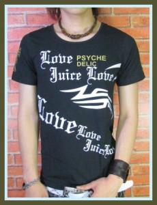 メール便なら送料無料!black crown】psychelic&gold☆UネックTシャツ【70721】