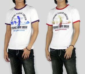 BLUEMENTRIP SURFラメプリントTシャツ