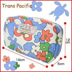 トランスパシフィック ポーチ フラワー&トロピカル ブルー (Trans-pacific)