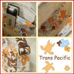 トランスパシフィック ハーフムーン ショルダーバッグ フラワー&トロピカル オレンジ (Trans-pacific)