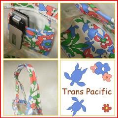トランスパシフィック トールバケット トートバッグ フラワー&トロピカル ブルー (Trans-pacific)