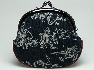 【和柄がま口財布】和柄がま口財布大。大きいサイズが便利です。(色K015)